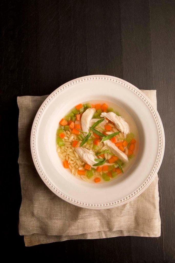 tarragon and lemon chicken soup