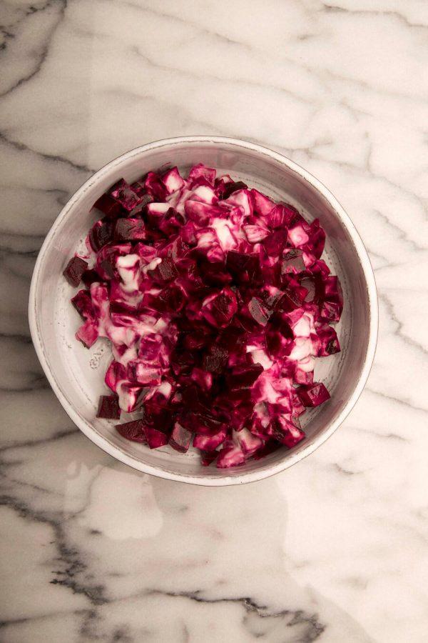 Baltic beet salad