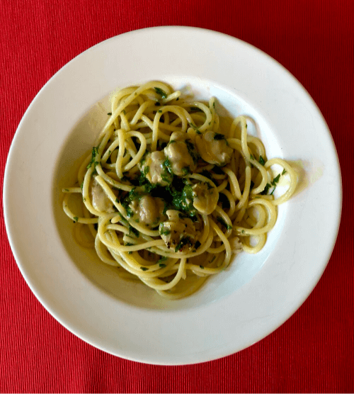 Spaghettone with Clams