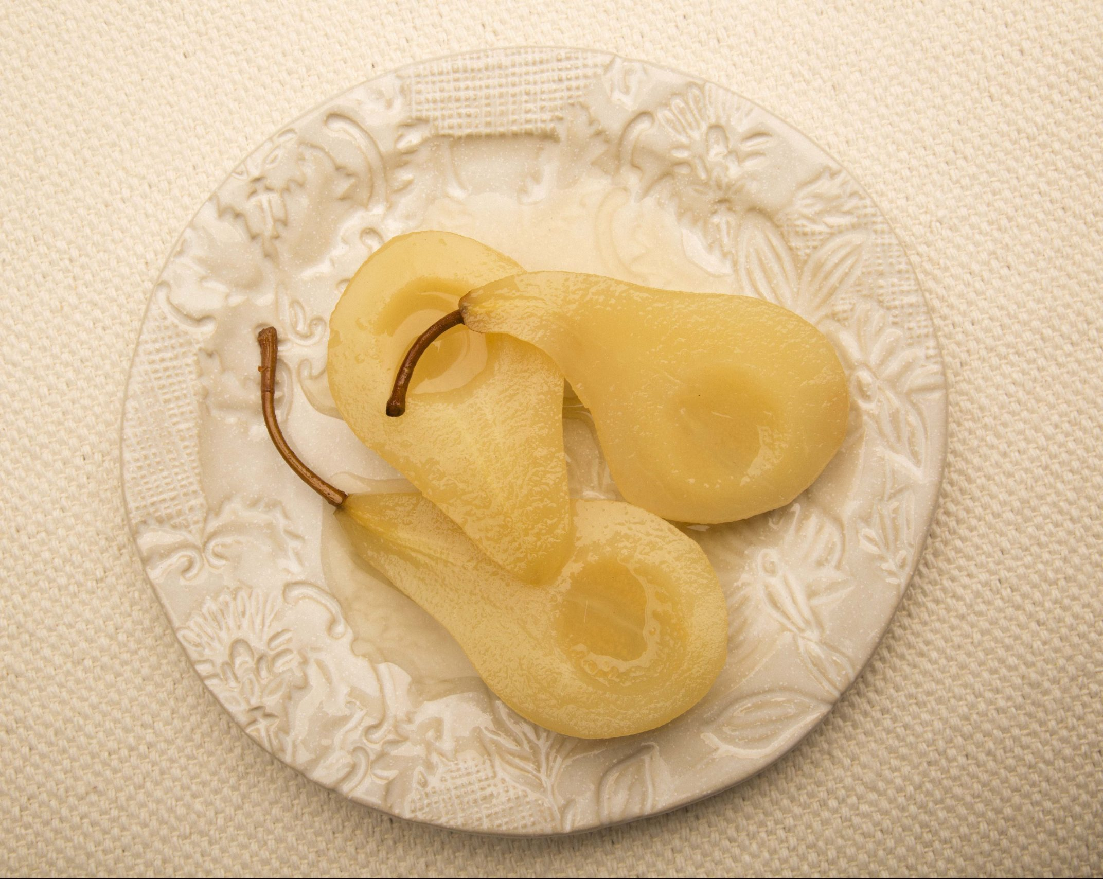 Gingery Poached Pears
