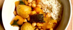 Citrusy Kabocha and Chickpea Stew